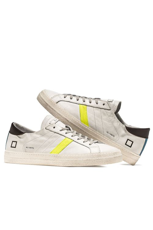 HILL LOW VINTAGE CALF WHITE-YELLOW D.A.T.E. | Scarpe | M341-HL-VCWY