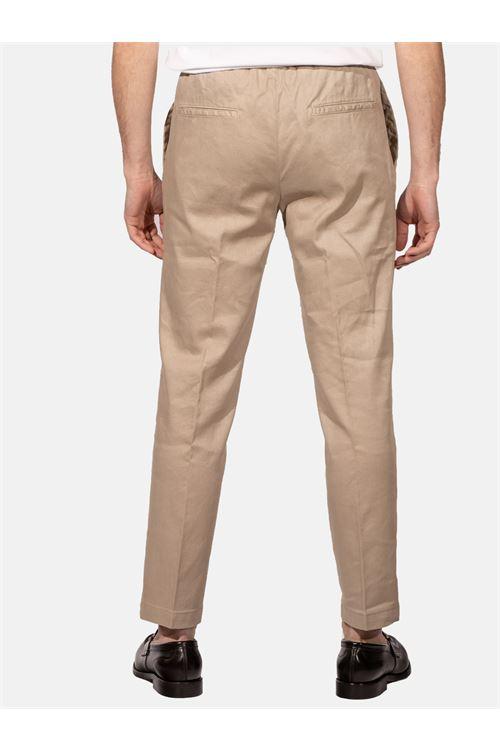 pantalone con lacci in lino e cotone DEVORE | Pantalone | DVR14-G049500