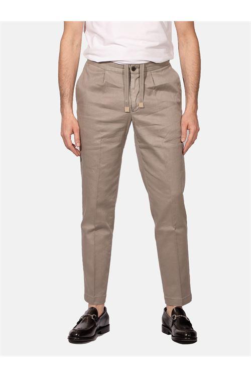 pantalone con lacci in lino e cotone DEVORE | Pantalone | DVR14-G049518