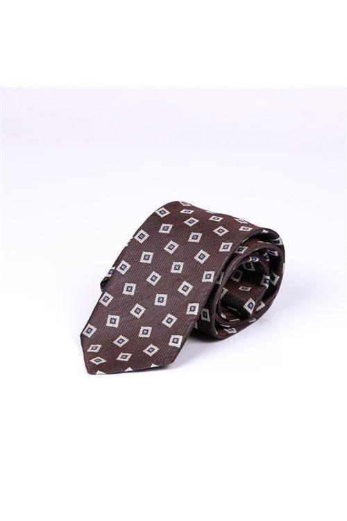 Cravatta con micro quadro LARDINI | Cravatta | ELCRC7/EL56115450