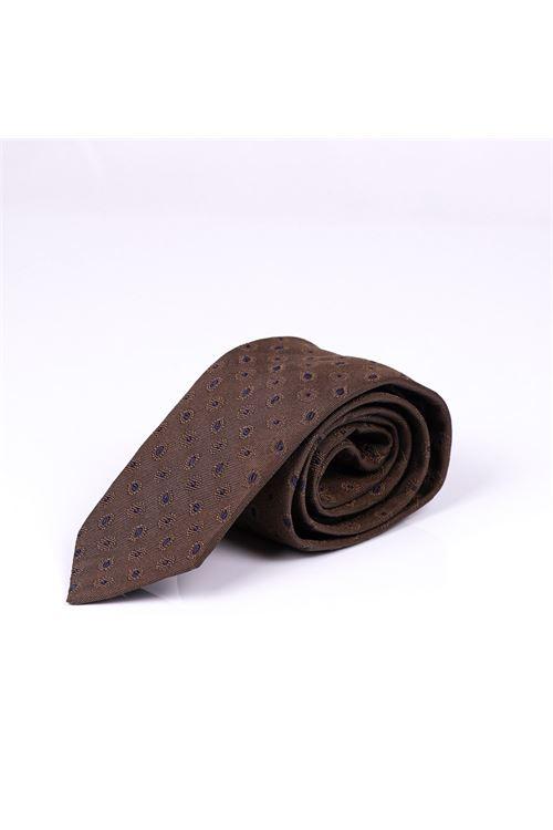 Cravatta con micro cachemire LARDINI | Cravatta | ELCRC7/EL56147450