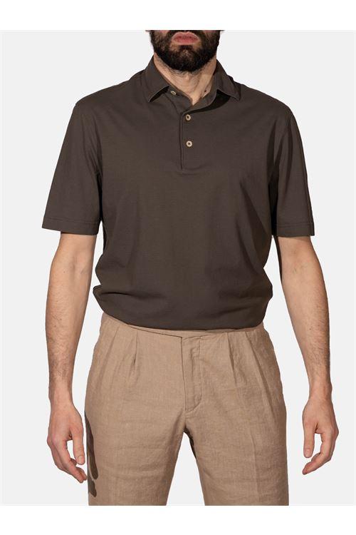 Polo con manica corta in jersey crêpe LARDINI | Polo | ELLPMC14/EL56022450