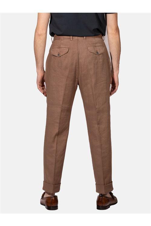 Pantalone in lino LARDINI | Pantalone | ELLUXOR5W/EL56089425OL