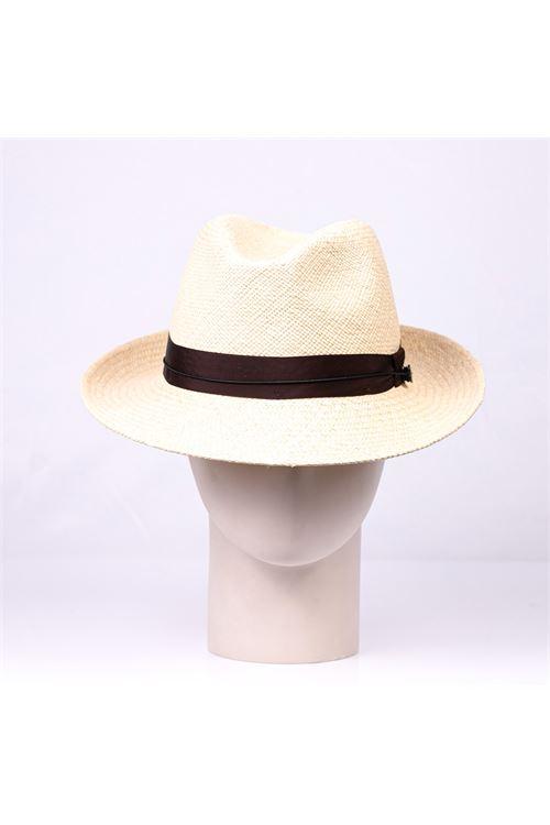 Cappello panama in paglia beige LARDINI | Cappello | ELPANAMA/EL56310200