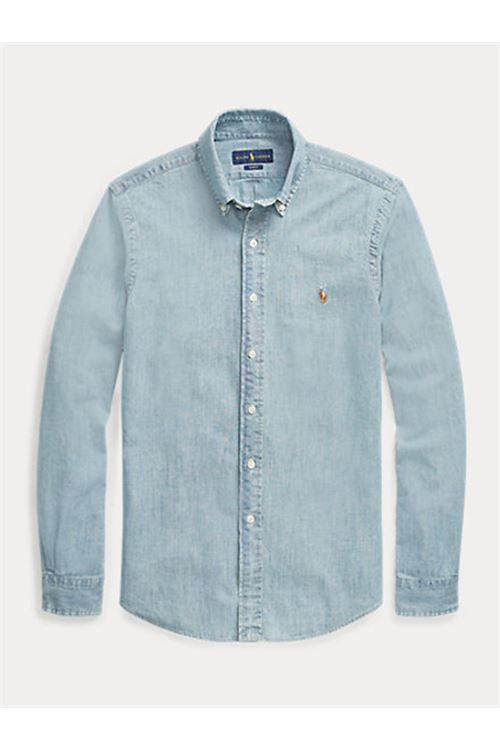 Camicia in chambray slim fit RALPH LAUREN | Camicia | 710-548538001