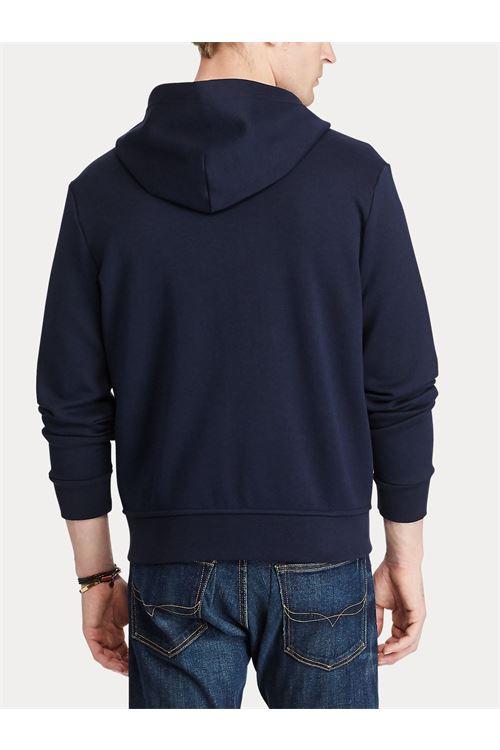 Felpa con cappuccio e zip a maglia doppia RALPH LAUREN | Felpa | 710-652313008