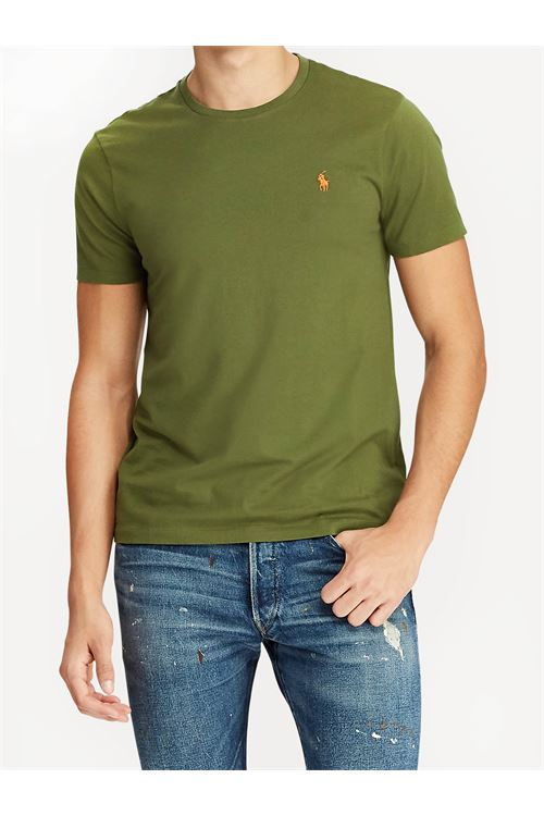 T-shirt girocollo custom slim fit RALPH LAUREN | T-shirt | 710-671438212