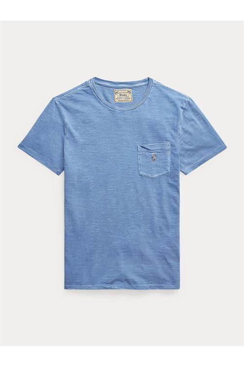 T-shirt con tasca in jersey slim fit RALPH LAUREN | T-shirt | 710-795137012