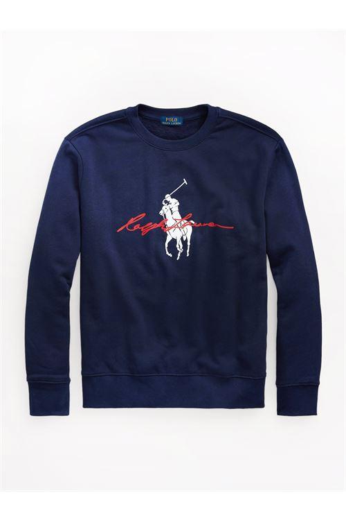 Felpa con logo Big Pony RALPH LAUREN | Felpa | 710-839054002