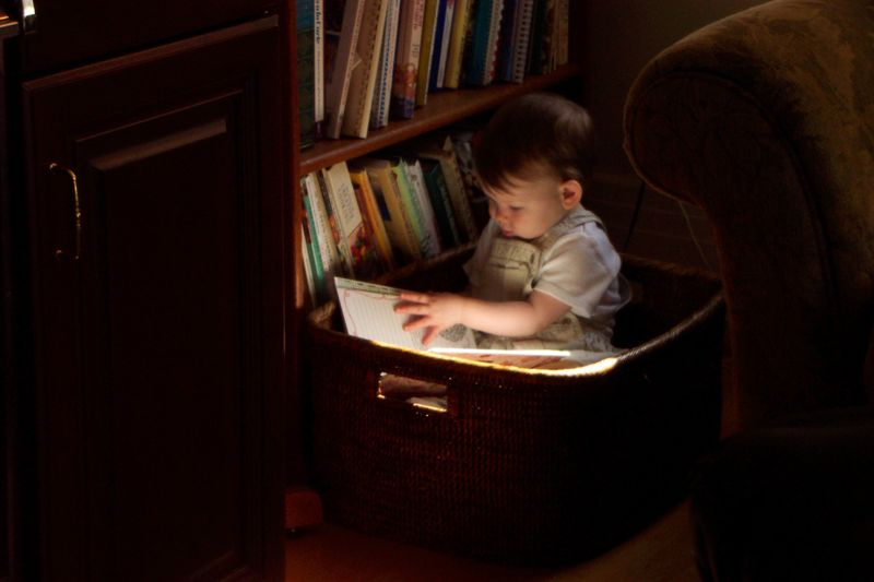 Reading in a basket