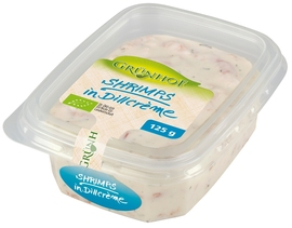 Grünhof Bio-Shrimps in Dillcrème