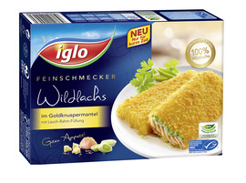 iglo Feinschmecker Wildlachs im Goldknuspermantel