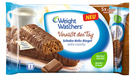 Weight Watchers Versüßt den Tag Schoko-Keks Riegel