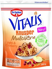 Dr. Oetker Vitalis Knusper Multikorn Apfel & Cranberry