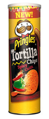 "Pringles Tortilla Chips ""Spicy Chilli"""