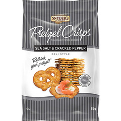 Snyder's of Hanover Pretzel Crisps Sea Salt & Cracked Pepper