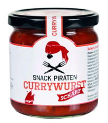 "Snack Piraten Currywurst ""Scharf"""