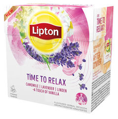 "Lipton Herbal Tea ""Time to Relax"""
