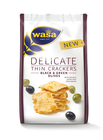Wasa Delicate Thin Crackers Schwarze & Grüne Oliven