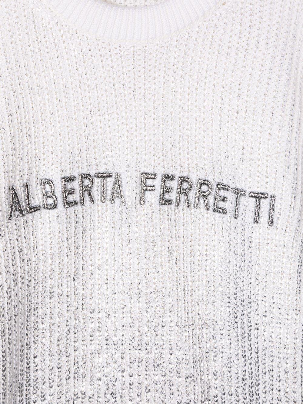 MAGLIONE BIANCO ALBERTA FERRETTI KIDS | Maglione | 025336002#