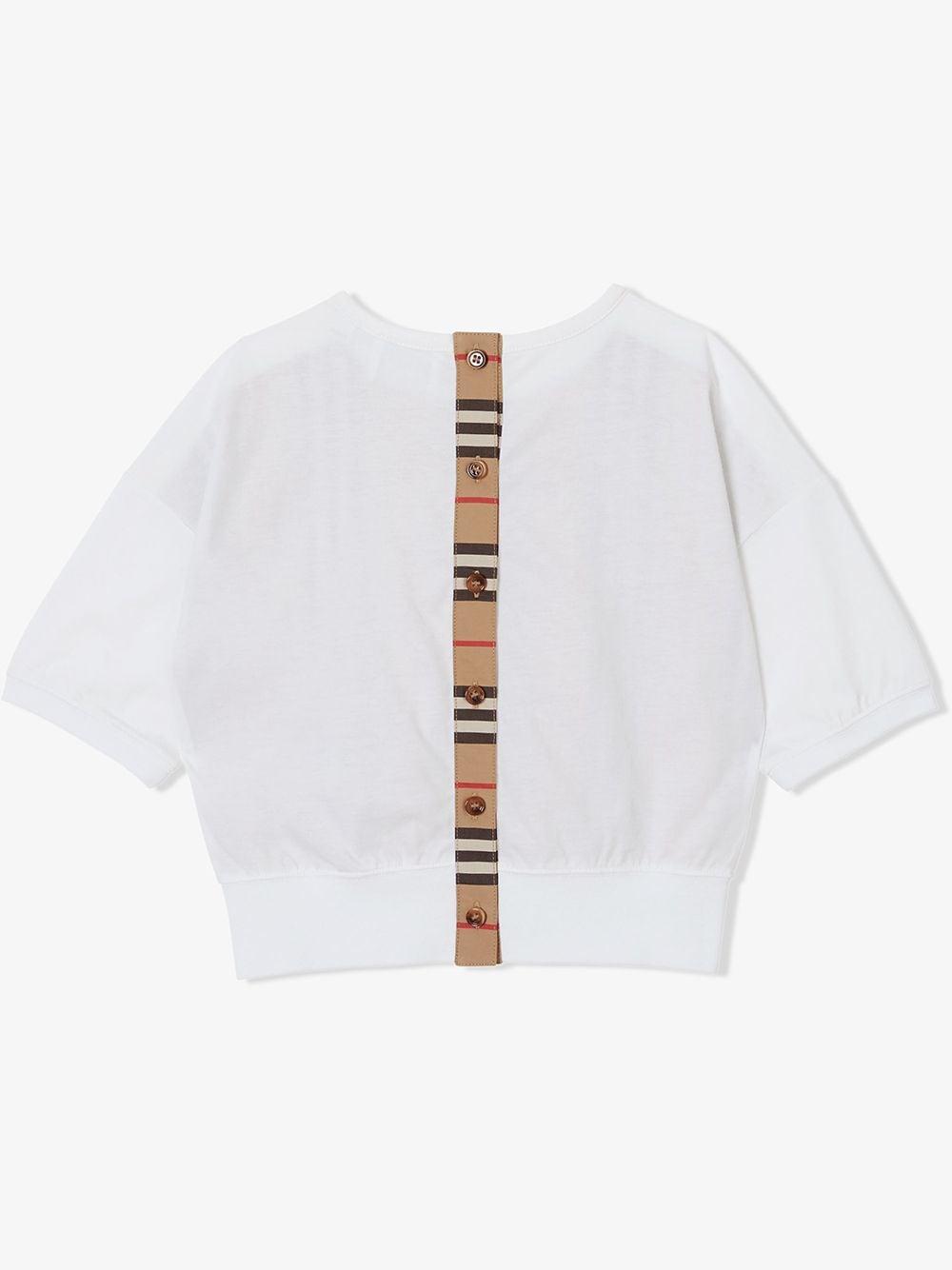 MAGLIA BIANCA BURBERRY KIDS | T-shirt | 8029796A1464#