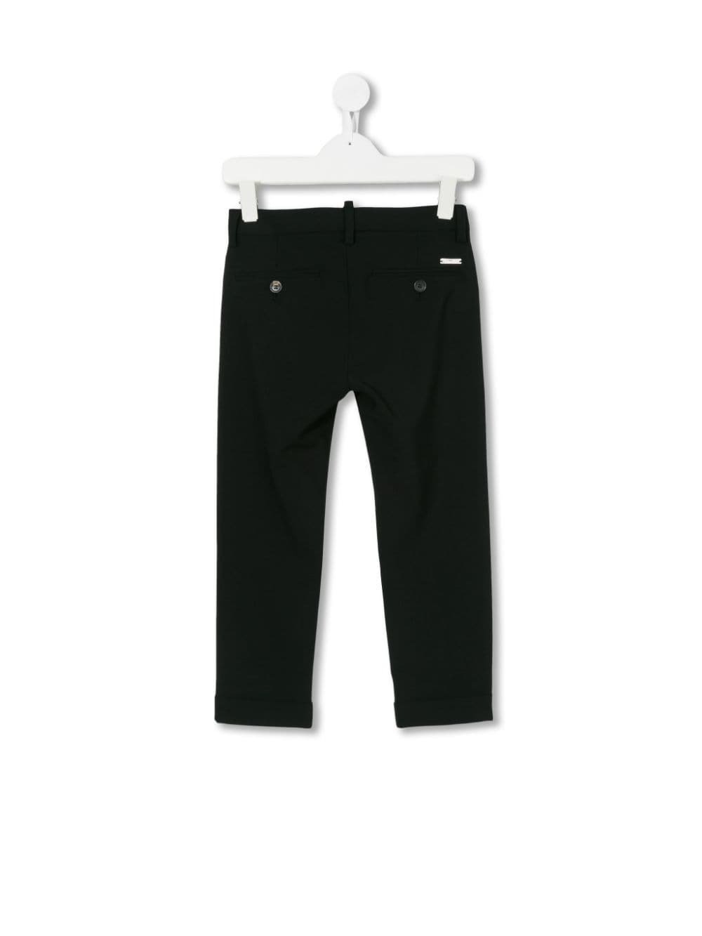 PANTALONE NERO DSQUARED KIDS | Pantalone | DQ02E5D000TD2P52VMDQ900#