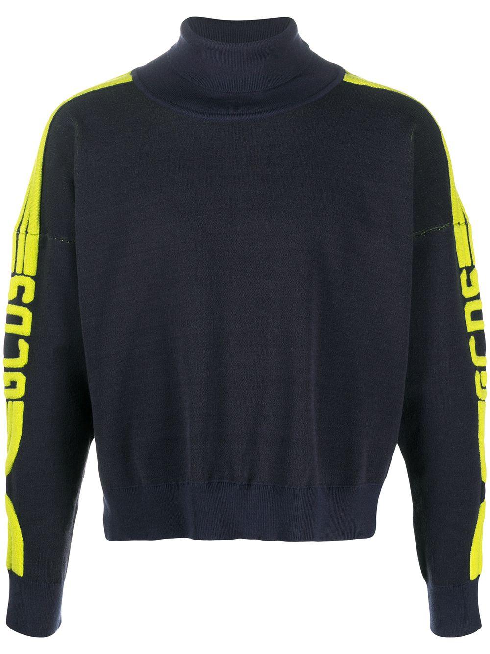 maglione blu GCDS   Felpa   FW21M020020BLUE