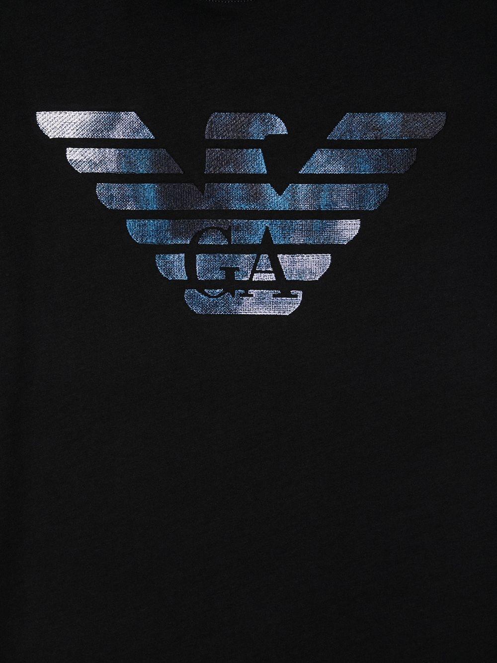 T-SHIRT BLU GIORGIO ARMANI KIDS | T-shirt | 6H4TA91JDXZ920##