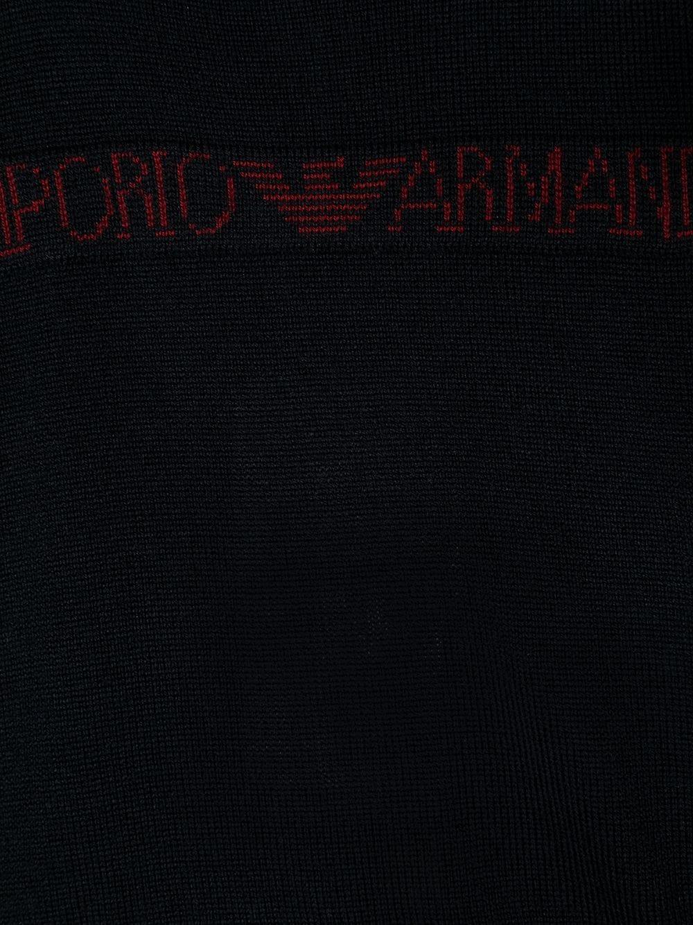 MAGLIONE NERO GIORGIO ARMANI KIDS | Pullover | 6HHM564M13ZF920