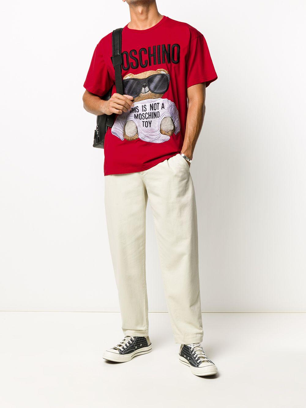 T-SHIRT ROSSA MOSCHINO   T-shirt   07025240A2115
