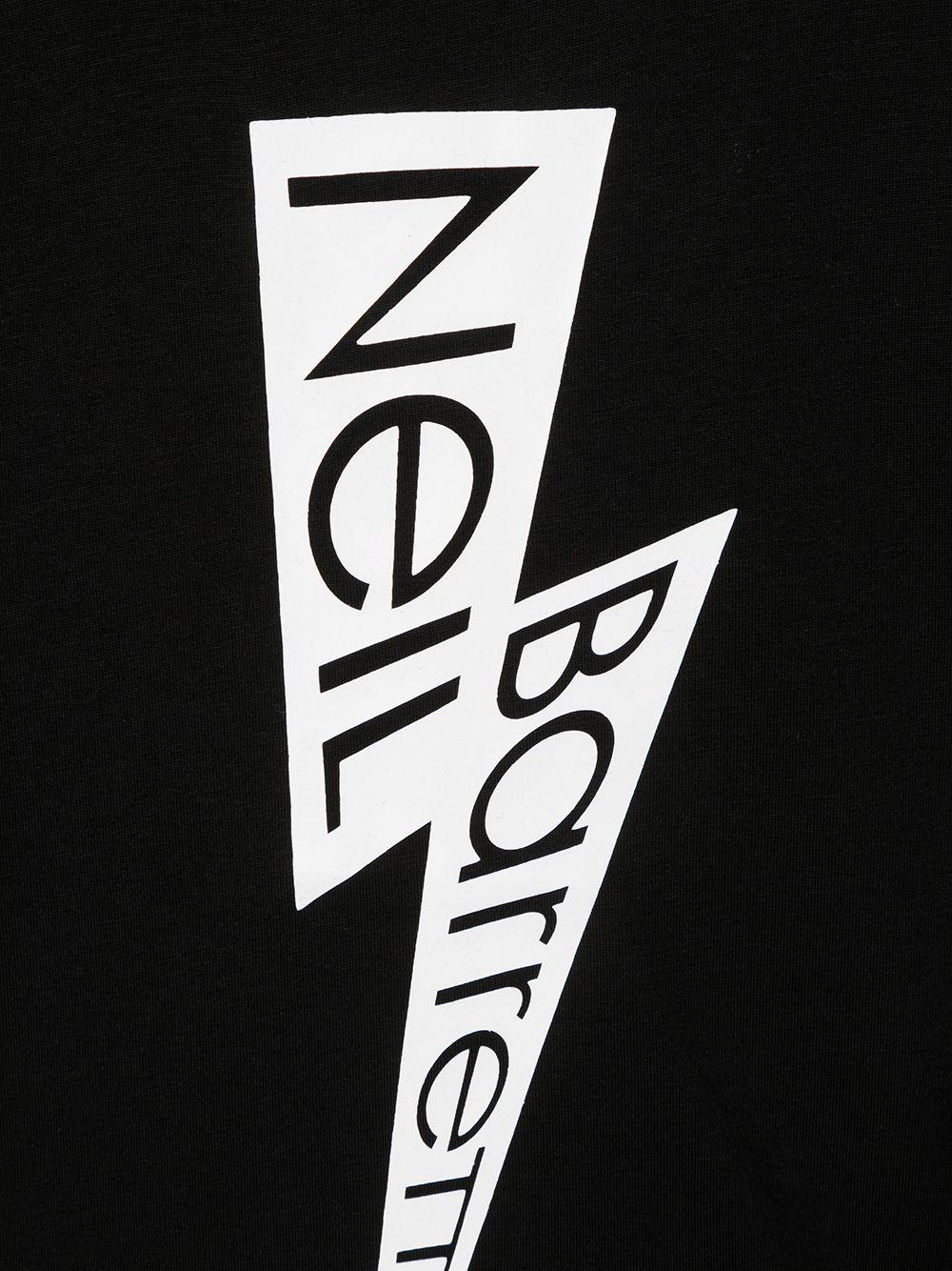 maglia nera NEIL BARRETT KIDS   T-shirt   026007110#