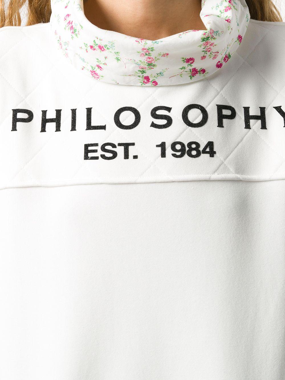 FELPA BIANCA PHILOSOPHY | Felpa | J17055747002