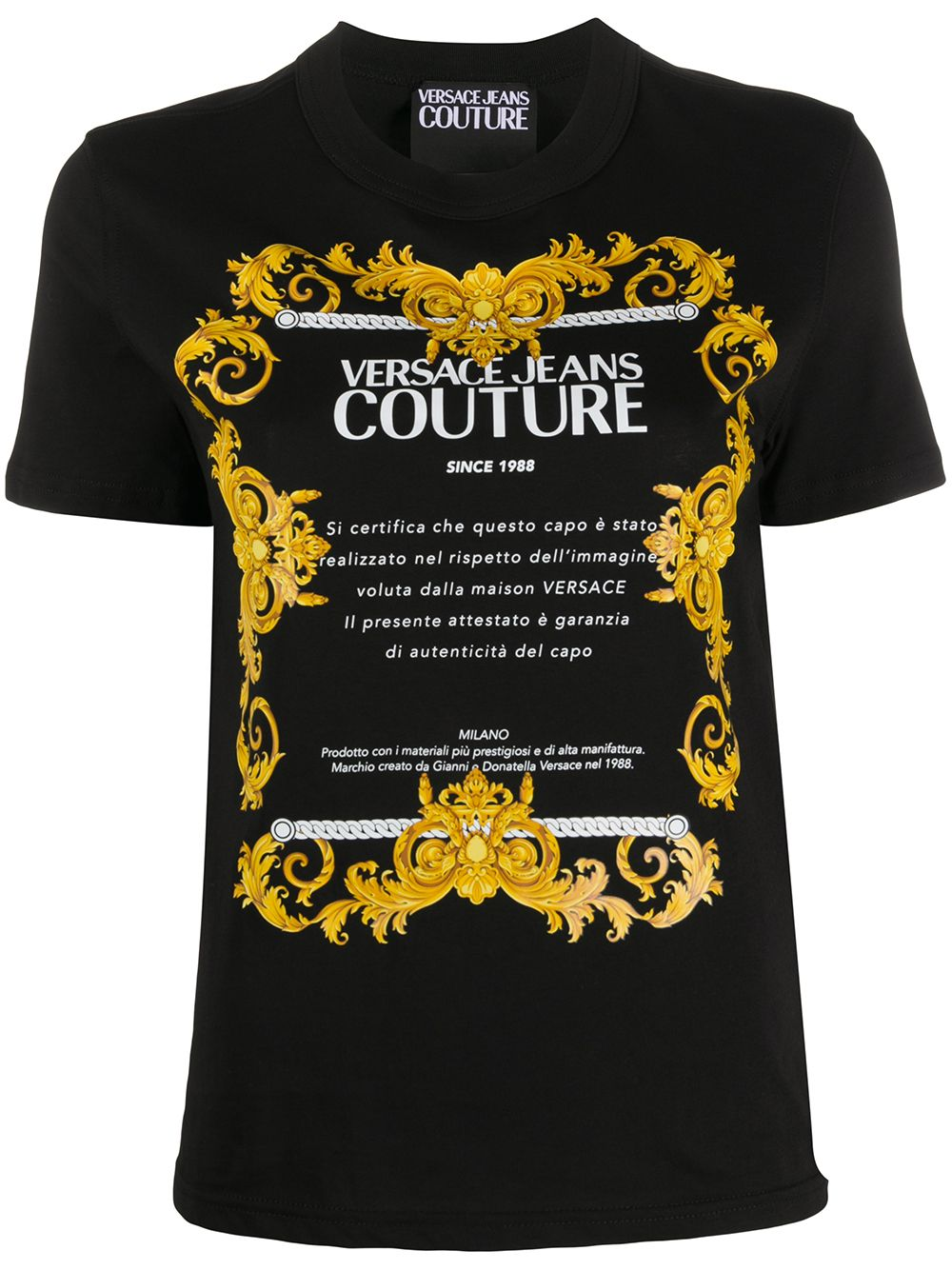 T-SHIRT NERA VERSACE JEANS COUTURE | Maglia | B2.HZA7TG.30319899