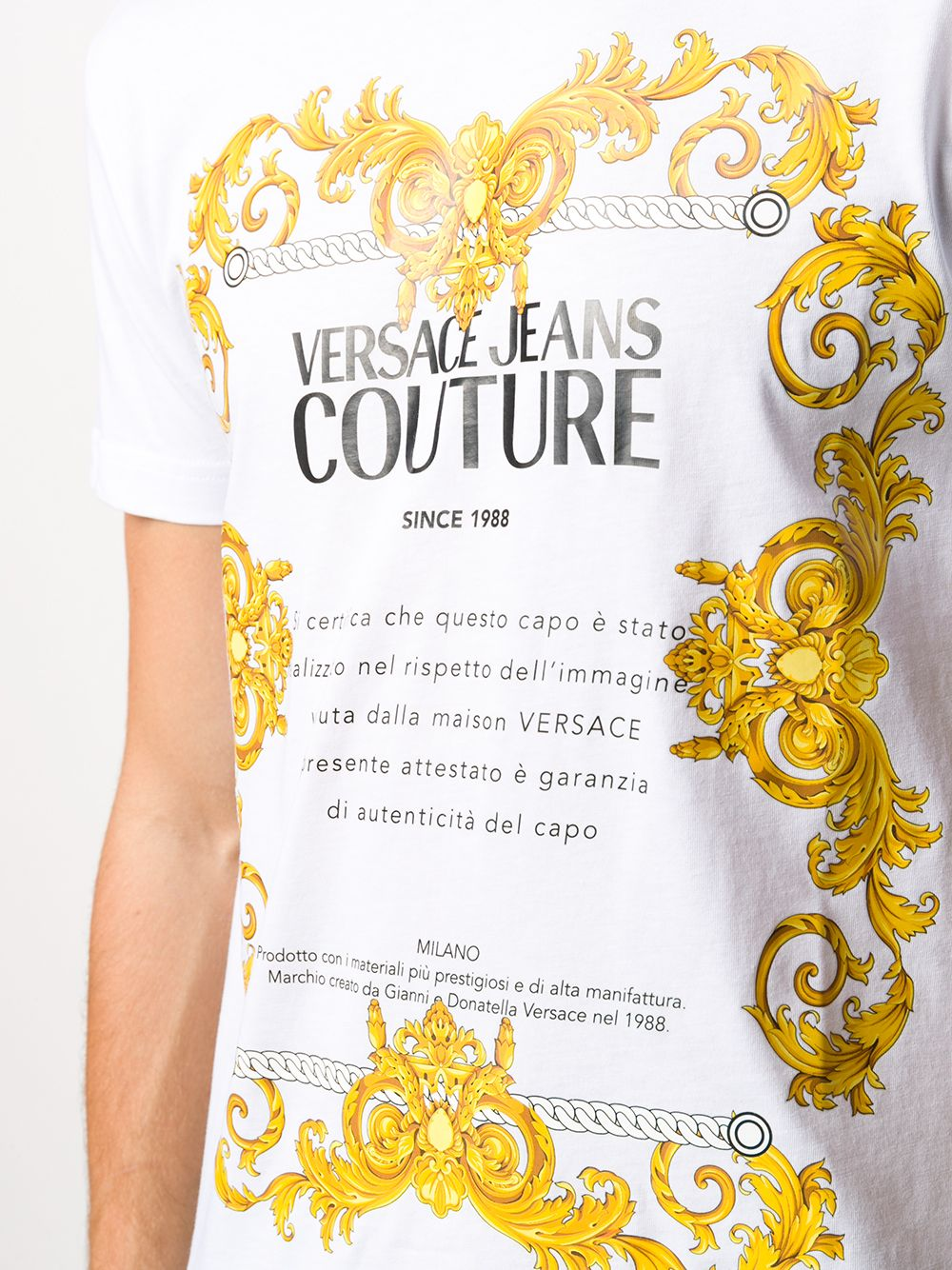 T-SHIRT BIANCA VERSACE JEANS COUTURE | Maglia | B3.GZA7TG.30319K41