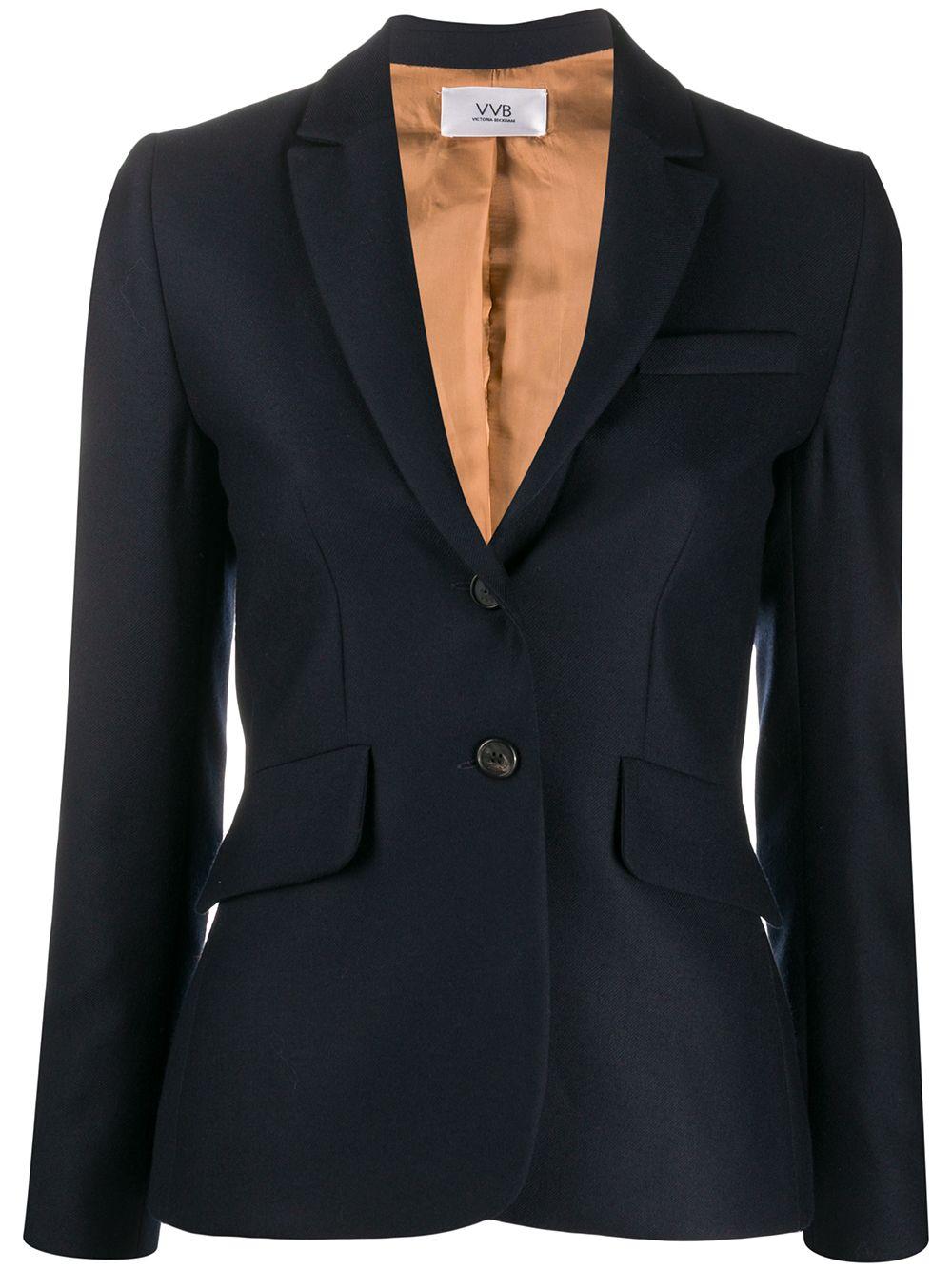 giacca blu VICTORIA BECKHAM   Blazer   2320WJK001484AMIDNIGHT
