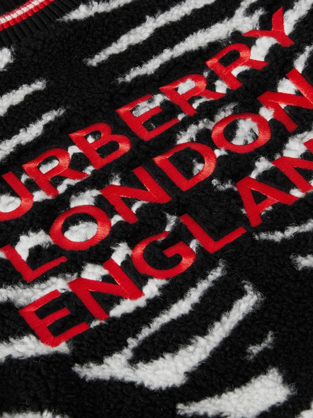 ZEBRA FLEECE BURBERRY KIDS | Hoodie | 8040884A1931#