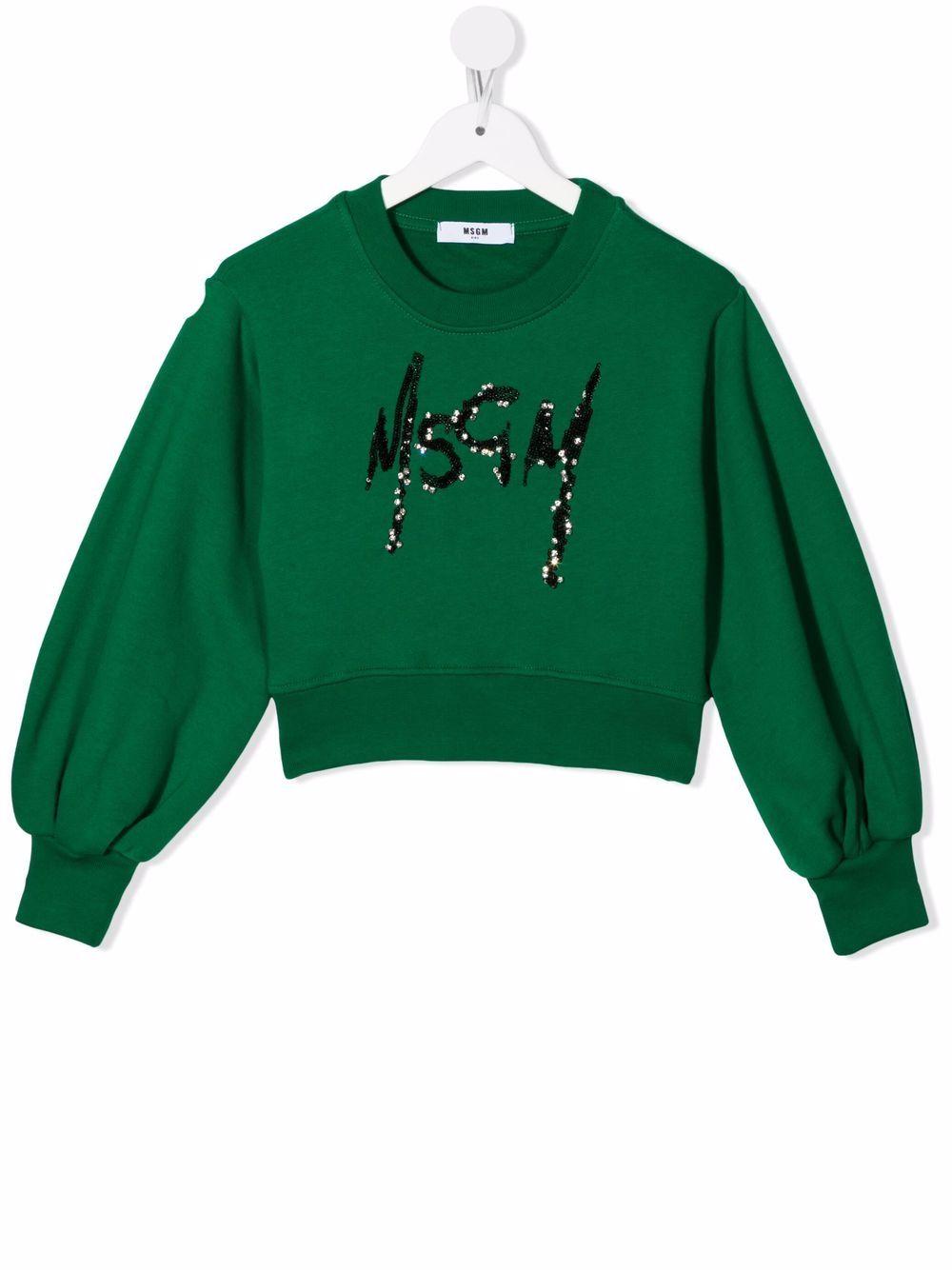 LOGO SWEAT MSGM kids   Hoodie   MS027793080#