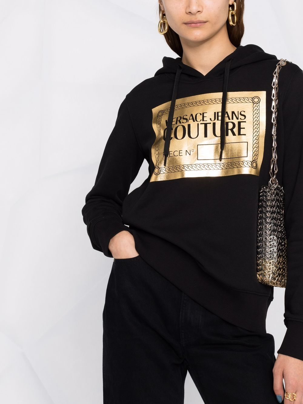 HOODIE STAMPA GOLD VERSACE JEANS COUTURE   Felpa   71HAIT15CF00TG89