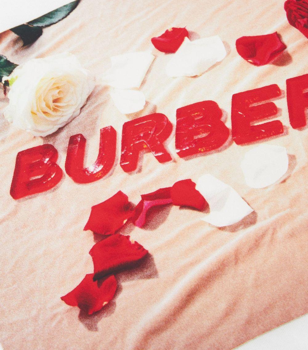 maglia bianca BURBERRY KIDS | T-shirt | 8036913A1464