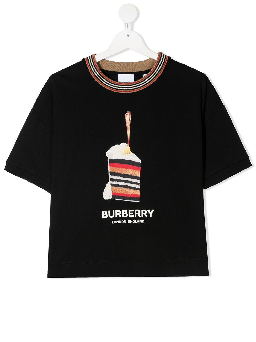 t-shirt nera BURBERRY KIDS   T-shirt   8036920A1189##