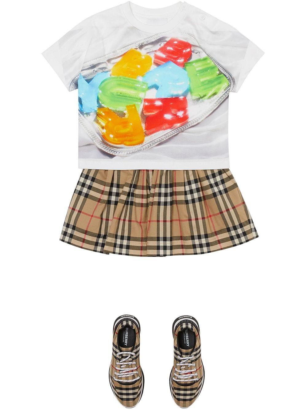maglia grigia BURBERRY KIDS | T-shirt | 8037613A4151