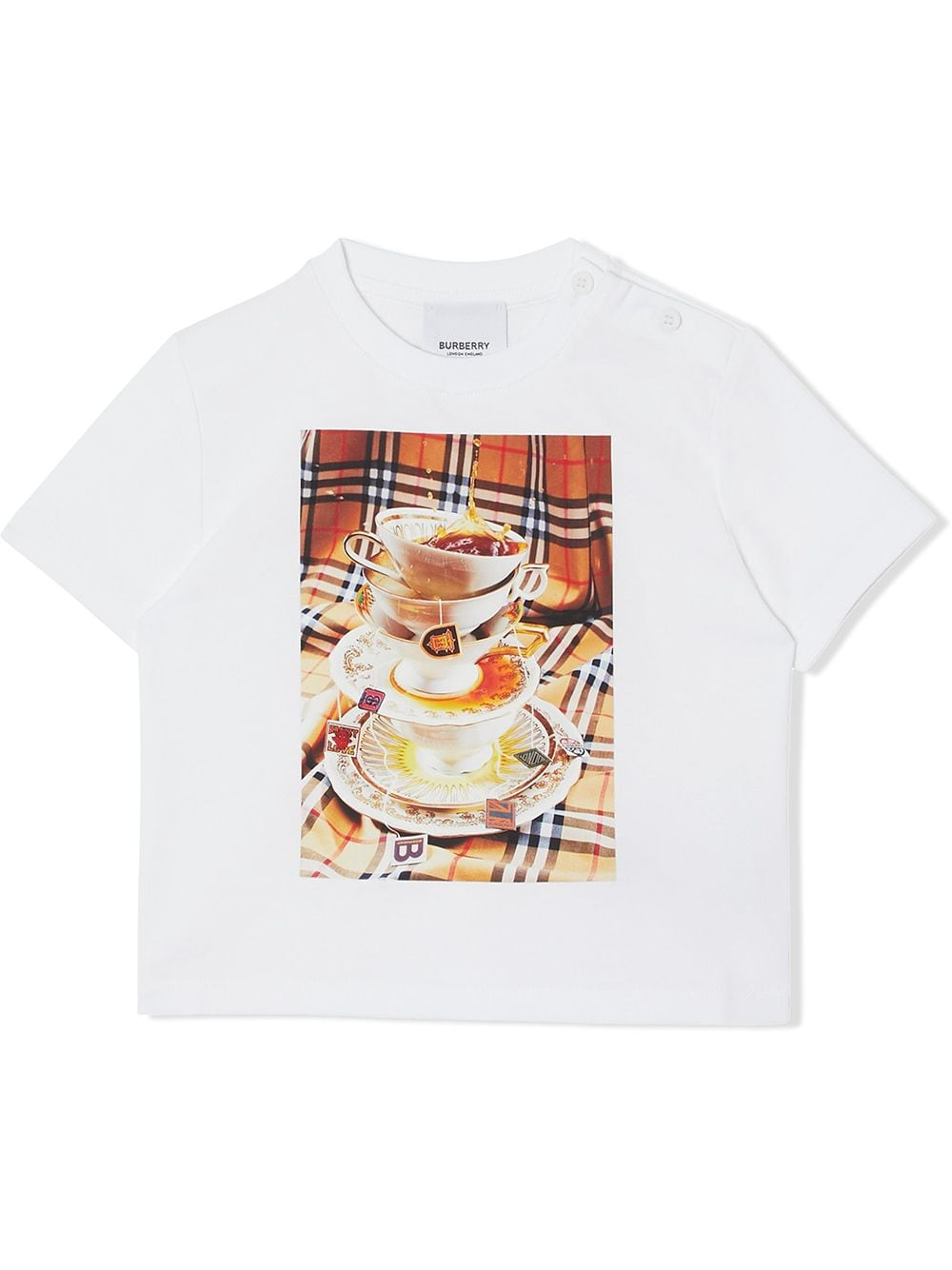 maglia bianca BURBERRY KIDS | T-shirt | 8037620A4151