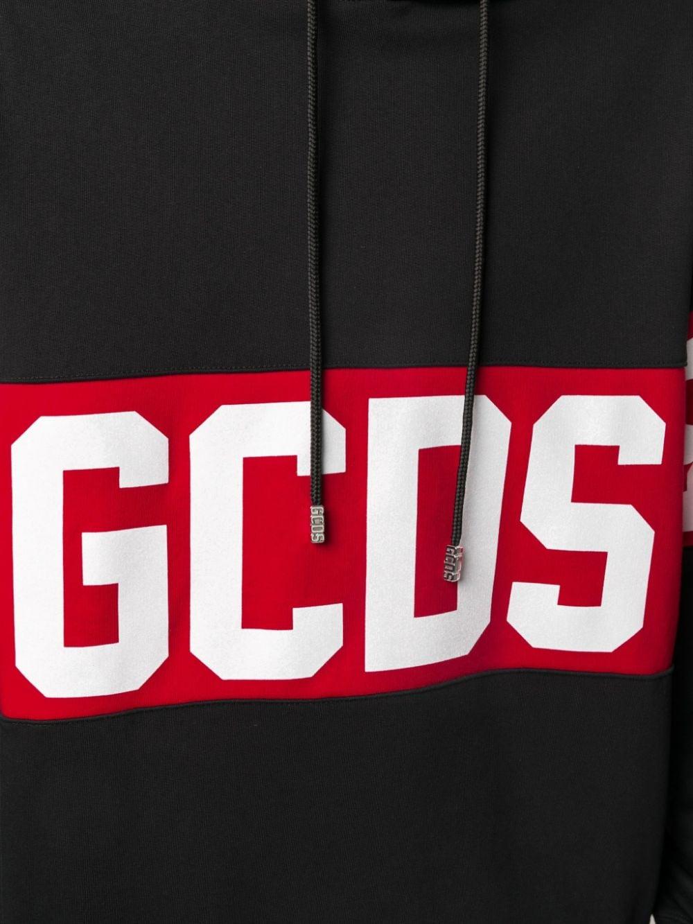 HOODIE LOGO NERA GCDS | Felpa | CC94M021013BLACK