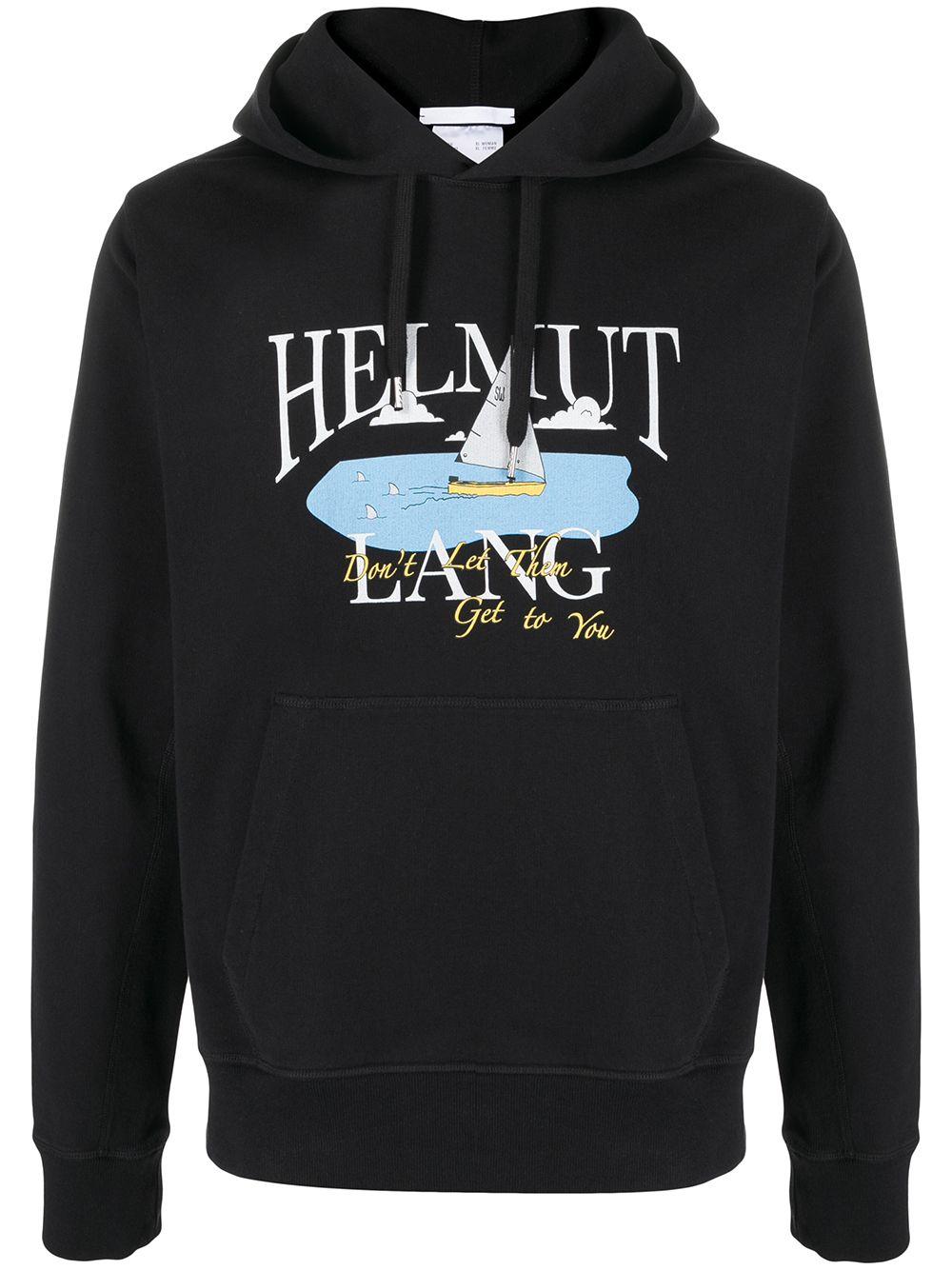 HOODIE STAMPA OCEAN HELMUT LANG | Felpa | K10DM516YVM
