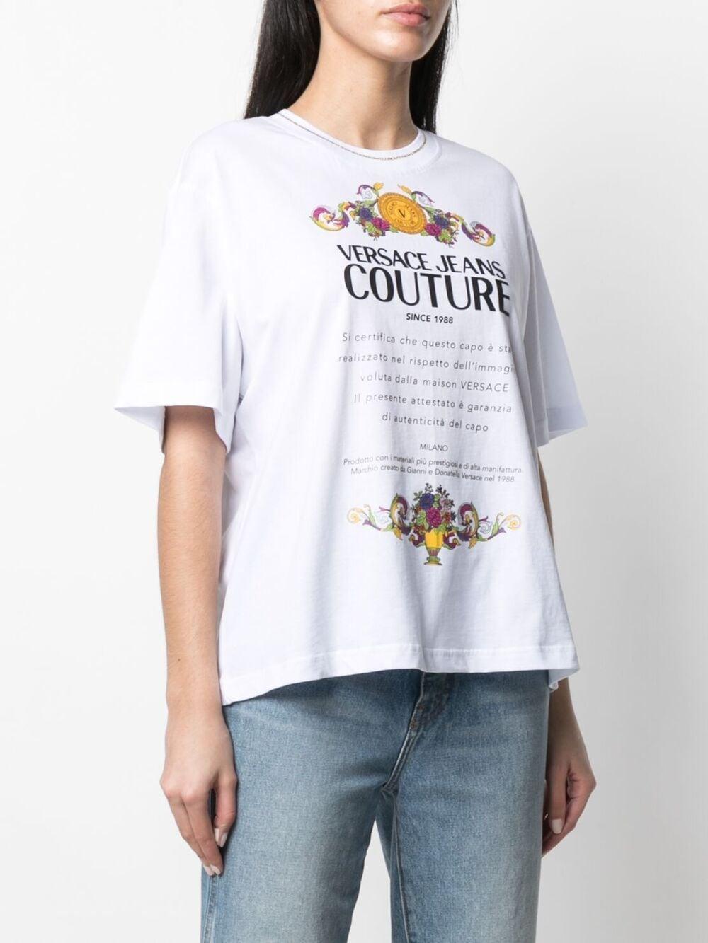 maglia bianca VERSACE JEANS COUTURE | Maglia | B2.HWA7TE.30319003