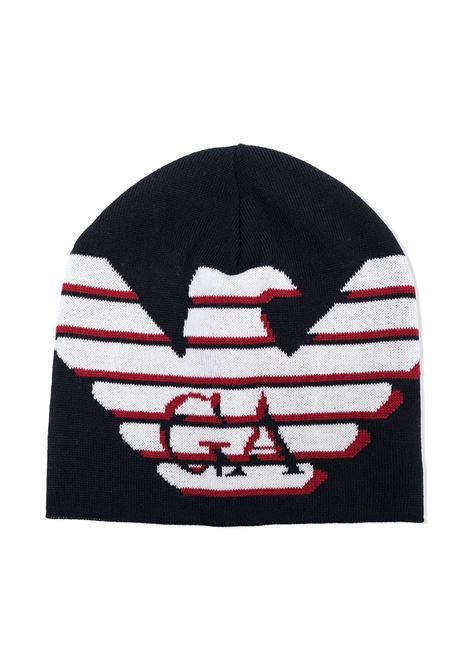 cappello nero GIORGIO ARMANI KIDS | Cappello | 4046110A46435