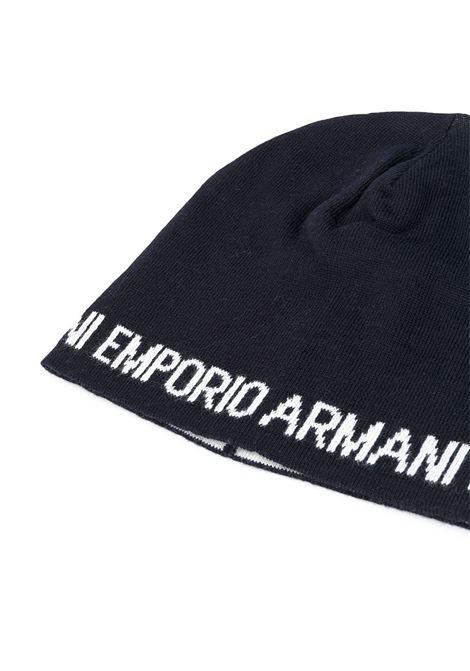 cappello nero GIORGIO ARMANI KIDS | Cappello | 4046130A46535
