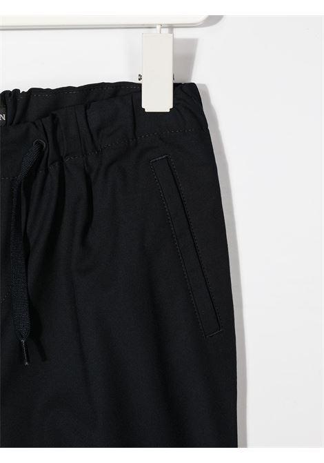 PANTALONE NERO GIORGIO ARMANI KIDS | Pantalone | 6H4PG54N4FZ922##