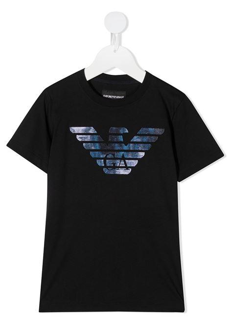 T-SHIRT BLU GIORGIO ARMANI KIDS | T-shirt | 6H4TA91JDXZ920#