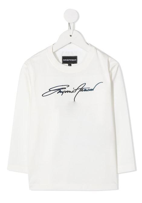 MAGLIA BIANCA GIORGIO ARMANI KIDS | T-shirt | 6H4TJN1JTUZ101#